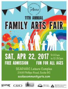 11th Annual Family Arts Fair @ SEAPARC Leisure Complex